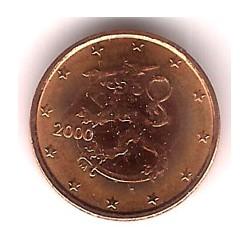 Finlandia. 2000. 1 Céntimo (SC)