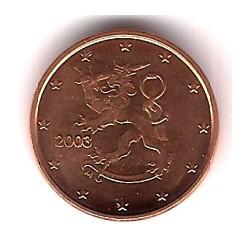 Finlandia. 2003. 1 Céntimo (SC)