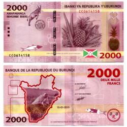 (52) Burundi. 2015. 2000 Francs (SC)