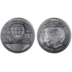 España. 2008. 12 Euro (SC) (Plata)