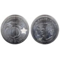España. 2009. 12 Euro (SC) (Plata)
