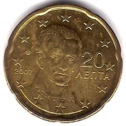 Grecia. 2007. 20 Céntimos (SC)