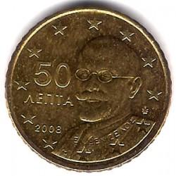 Grecia. 2008. 50 Céntimos (SC)