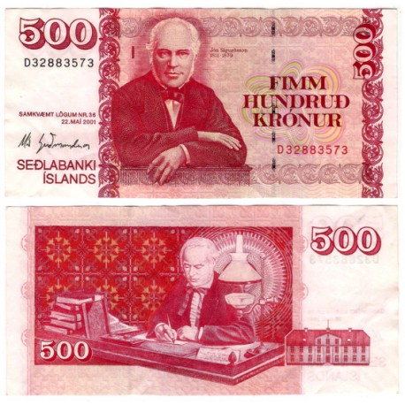 (58a) Islandia. 2001. 500 Kronur (EBC)