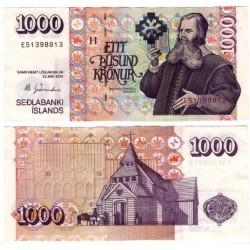 (59) Islandia. 2001. 1000 Kronur (EBC+)