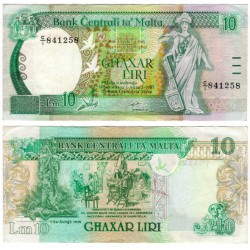(43) Malta. 1989. 10 Liri (MBC+)