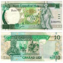 (47c) Malta. 1994. 10 Liri (EBC)
