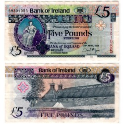 (83a) Irlanda del Norte. 2008. 5 Pounds Sterling (BC+)