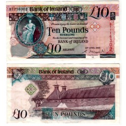 (84a) Irlanda del Norte. 2008. 10 Pounds Sterling (MBC+)