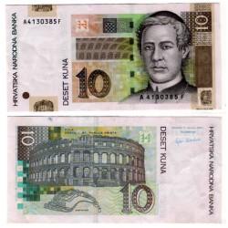 (38a) Croacia. 2001. 10 Kuna (EBC)