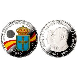 España. 2018. 30 Euro (SC) (Plata)