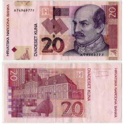 (39a) Croacia. 2001. 20 Kuna (MBC+)