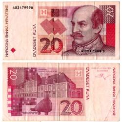 (30a) Croacia. 1993. 20 Kuna (MBC+)
