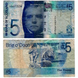 (124a) Escocia. 2007. 5 Pounds Sterling (BC)