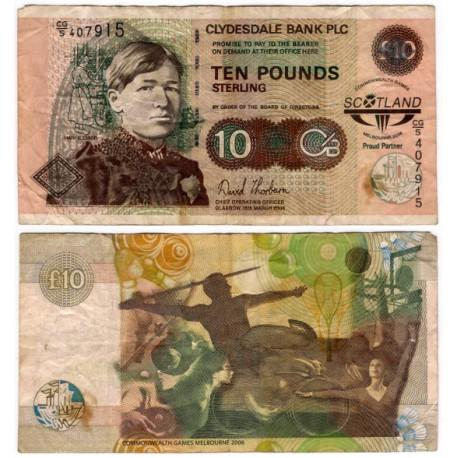 (229E) Escocia. 2006. 10 Pounds Sterling (BC) Pequeñas roturas
