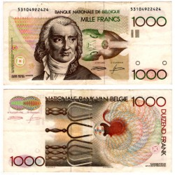 (144a) Bélgica. 1980-96. 1000 Francs (MBC)