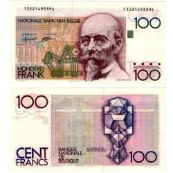 (142a) Bélgica. 1982-94. 100 Francs (SC-)