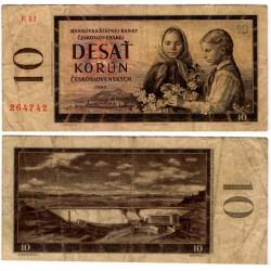(88b) Checoslovaquia. 1960. 10 Korun (BC+)