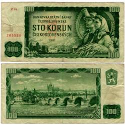 (91b) Checoslovaquia. 1961. 100 Korun (BC+)