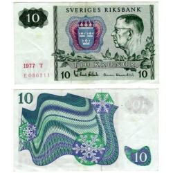 (52d) Suecia. 1977. 10 Kronor (MBC+)