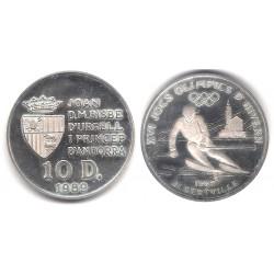 (55) Andorra. 1989. 10 Diners (SC) (Plata)
