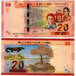 Bolivia. 2018. 20 Bolivianos (SC)