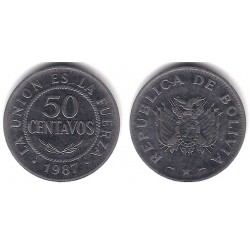 (204) Bolivia. 1987. 50 Centavos (BC+)