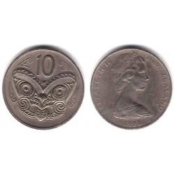 (41.1) Nueva Zelanda. 1980. 10 Cents (MBC)