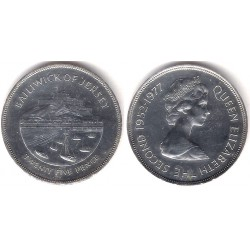 (44a) Jersey. 1977. 25 Pence (EBC) (Plata)