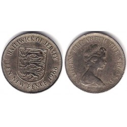 (33) Jersey. 1968. 10 New Pence (BC)