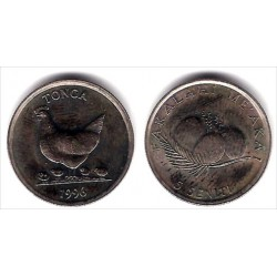 (68) Tonga. 1996. 5 Seniti (SC)