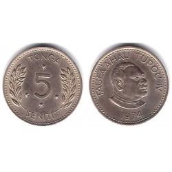 (29) Tonga. 1974. 5 Seniti (SC)