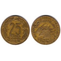 (12) Camerún. 1958. 25 Francs (BC+)