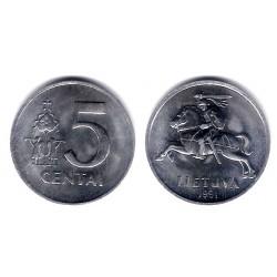(87) Lituania. 1991. 5 Centai (SC)