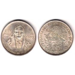 (483.1) Estados Unidos de América. 1977. 100 Pesos (EBC) (Plata)