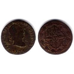 Fernando VII. 1831. 4 Maravedi (BC) Ceca de Segovia