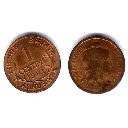 (840) Francia. 1901. 1 Centime (MBC)