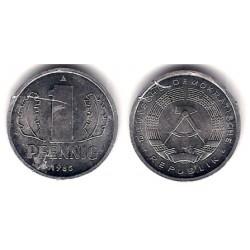 (8.2) Alemania Democrática. 1985(A). 1 Pfennig (EBC)