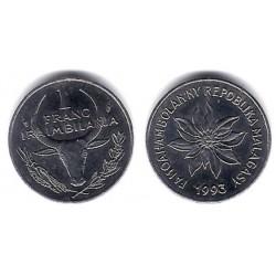 (8) Madagascar. 1993. 1 Franc (EBC)
