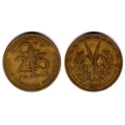 (9) África Occidental Francesa (Togo). 1957. 25 Francs (MBC)