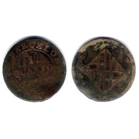 José Napoleón. 181X. 1 Cuarto (RC) Ceca de Barcelona