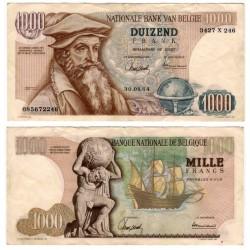 (136a) Bélgica. 1964. 1000 Francs (MBC) Peq. rotura margen sup