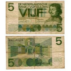 (90b) Países Bajos. 1966. 5 Gulden (RC)