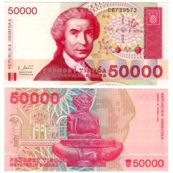 (26a) Croacia. 1993. 50000 Dinara (SC)