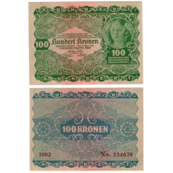 (77) Austria-Hungria. 1922. 100 Kronen (SC)