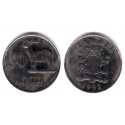 (30) Zambia. 1992. 50 Ngwee (EBC)