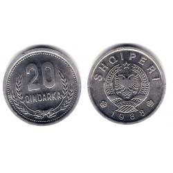 (65) Albania. 1988. 20 Qindarka (SC)