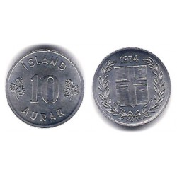 (10a) Islandia. 1974. 10 Aurar (SC)