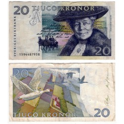 (61a) Suecia. 1991. 20 Kronor (BC+)