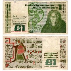 (70a) Irlanda. 1976. 1 Pound (MBC) Pequeños agujeros